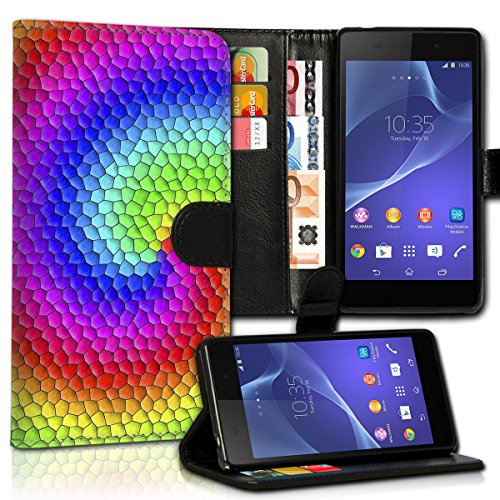 wicostar Estilo Libro Huawei Ascend P7Premium de PU Piel Flip Cartera Funda...
