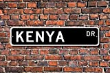 Metall Stree Kenia Schild Geschenk Souvenir Schild Andenken