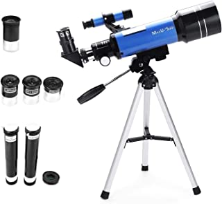 70mm Refractor Telescope with Tripod & Finder Scope, Portable Telescope for Kids & Astronomy Beginners