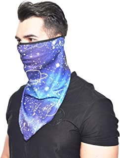 Unisex Triangle Face Bandana Neck Gaiter Tube Cover Sun Protection Face Cover Headwrap for Outdoor Dust and Sun Protection