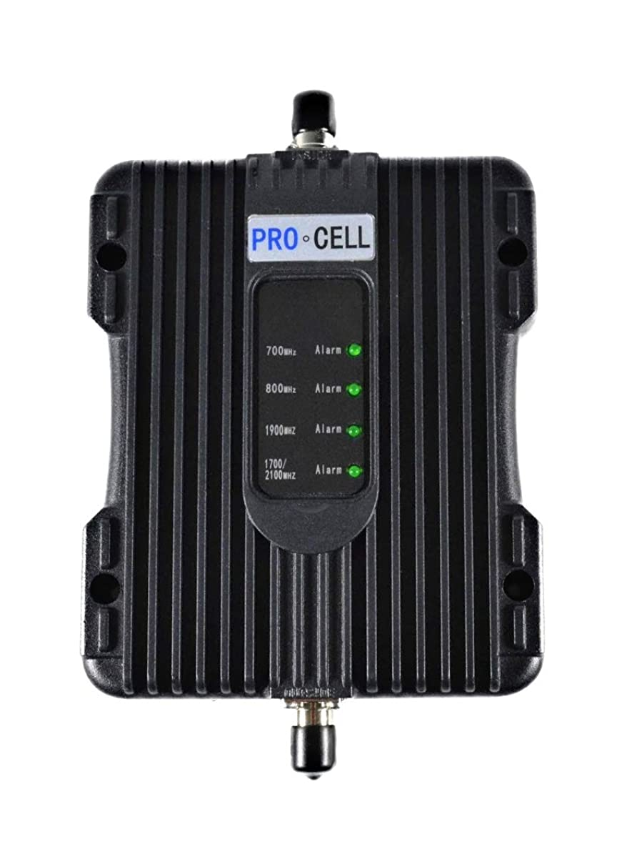 Pro-Cell Wireless Cell Phone Signal Booster for Car, RV, Truck, Commercial Vehicles-4G LTE Compatible with All Carriers and Devices, 50dB Max Signal Enhancement