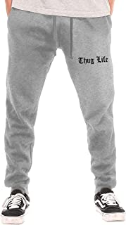 Men's Sweatpants Thug Life Athletic Jogger Sports Long Pants