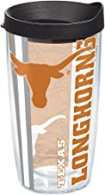 Tervis 1215932 Texas Longhorns College Pride Tumbler with Wrap and Black Lid 16oz, Clear