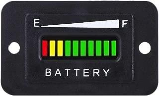 Led Digital Battery Indicator Meter Gauge Golf Cart, 12V/24V/36V/48V Led Battery Gauge for Golf Cart with Hour Meter(36V)