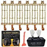 Snow Chains, Tire Chains for Trucks Suvs, Cars, Sedan, Family Automobiles for Tire Width 225-285mm/8.9-11.2 in(2021 Newest Upgrad)
