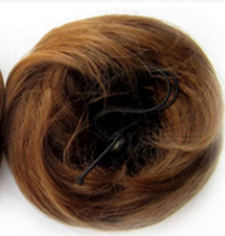 参照する農民ソロDoyvanntgo 髪の毛のエクステンション自然な普通のミートボール髪のウィッグと色の選択の様々なヘアバッグ (Color : Brass)