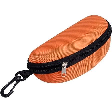 Bluelans® Travel Portable Hard Zipper Case Box Eye Glasses Sunglasses Bag with Carabiner Hook
