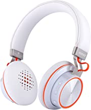 Wireless Bluetooth Headphones for Cellphone Headset Over Ear with Microphone Noise Cancelling Stereo Cordless Headphone for PC/Phones/Tablet with On Board Control (White)
