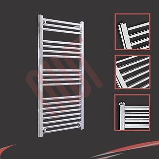 500 mm (w) x 1000 mm (h) - Piso Radiador toallero cromado horizontal Diámetro: 22 mm, Bar Modelo: 3 + 4 + 4 + 8