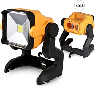 LED Work Light Battery Powered - Enegitech 20W 2800LM 4000K LED Working Light Powered by Cordless Tool Battery and DC Adapter - Multiple Mount for Jobsite - Workshop - Construction Site