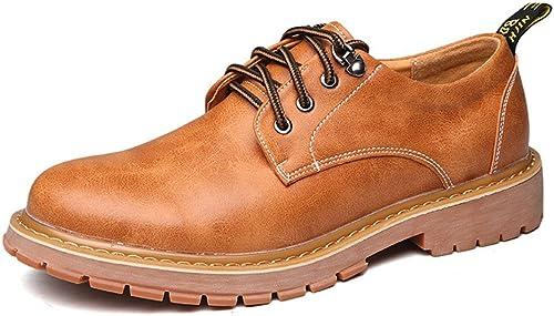 SRY-chaussures Chaussures de de Travail pour Hommes Simples en Cuir PU Décontracté Lace Up Soft Outsole Flats (Couleur   Marron, Taille   CN26)  édition limitée chaude