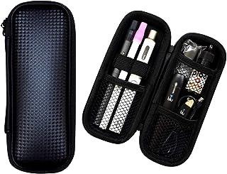【改良版ロングタイプ】プルームテック ケース PloomTECH 電子タバコ VAPEも入る 大容量 マウスピースを装着したまま3本収納 耐性 PUレザー