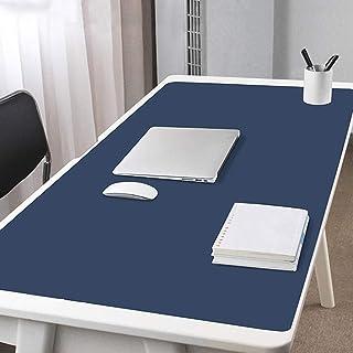 大型 オフィス レザー マウスパッド、両面 ゲーミングマウスパッド 防水 延長 キーボードパッド 滑り止め コンピューターマット 厚さ2mm (Color : Blue2, Size : 1400x700mm(55x28inich))