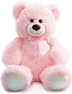 HollyHOME Teddy Bear Plush Giant Teddy Bears Stuffed Animals Teddy Bear Love 36 inch Pink