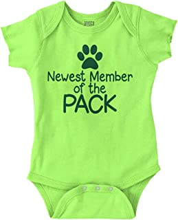 Newest Member Pack Funny Pet Family Newborn Romper Bodysuit
