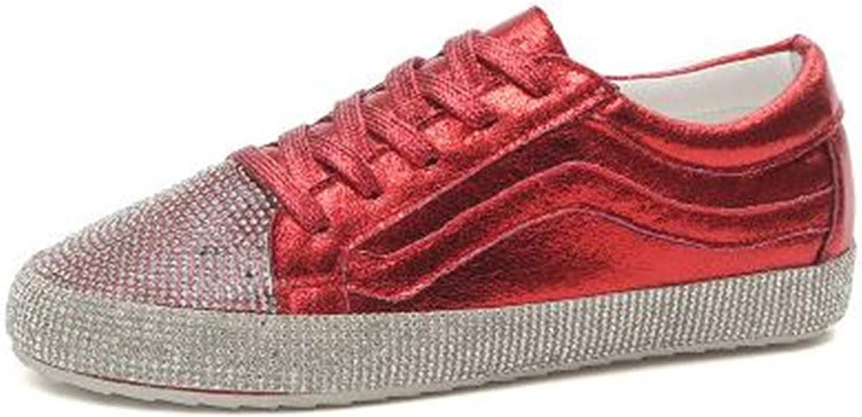 Richard Nguyen Women Sneaker Rhinestone Silver Girl Crystal Bling Cross-Tied Lace Up Glitter shoes