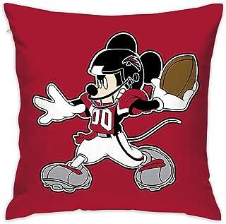 Dalean Atlanta Falcons Cartoon Pillowcase, Zipper Pillowcase, Office Pillow Case (17.7