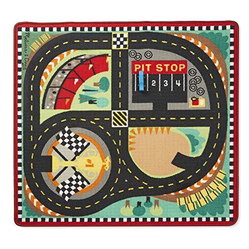 Melissa & Doug Spielteppich (100 x 90 Zentimeter) - Rennstrecke mit Autos (5 Teile)