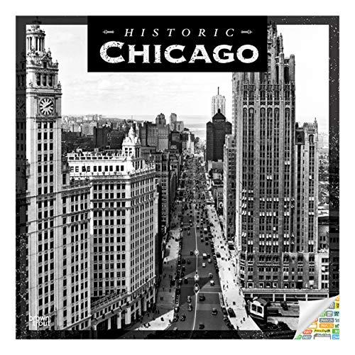 Historic Chicago Calendar 2020 Chicago Illinois Wall Calendar Bundle with Over 100 Calendar Stickers