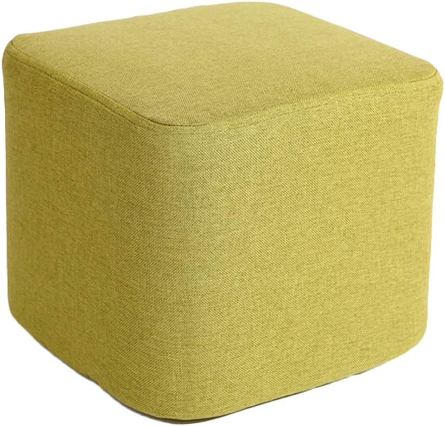 AGLZWY Footstool Sofa Stool Multipurpose Cloth Square Removable Washable Breathable Non-Slip Space Saving Bearing Strong Fashion Living Room Change shoes Dressing Coffee Table