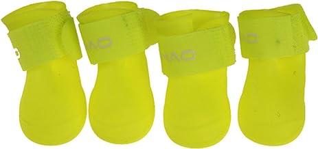 4 stks huisdier hond schoenen waterdichte regen huisdier schoenen voor kleine honden puppy rubberen laarzen snoep kleur pu...