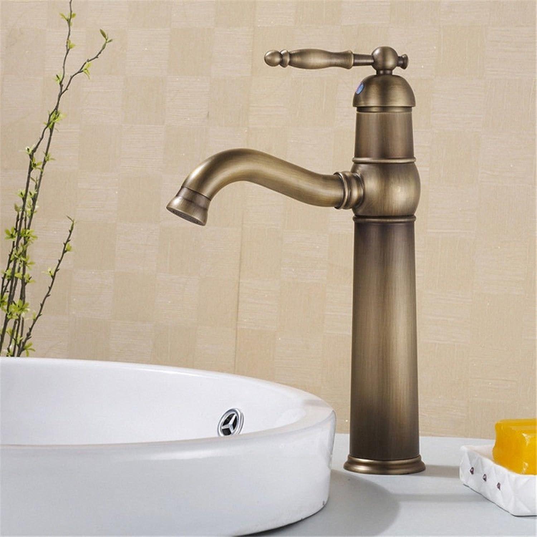 EinfacheKupfer hei und kalt Wasserhhne Küchenarmatur Einzelne antike Kupferwasserhahn Küchenarmatur Becken Wasserhahn warmes und kaltes Wasser Wasserhahn Geeignet für alle Badezimmer Küchenspülen