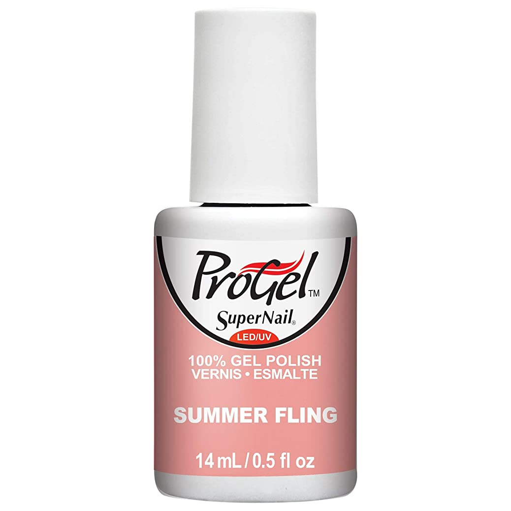 あなたは故国航空機SuperNail ProGel Gel Polish - Summer Fling - 0.5oz / 14ml