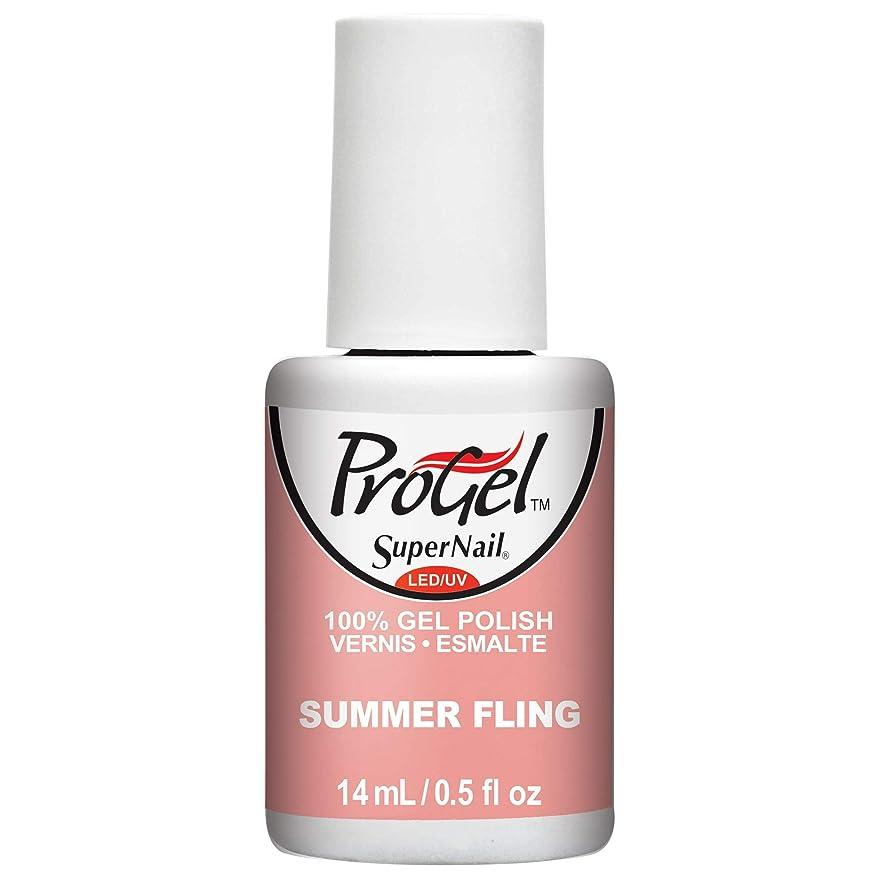 フィードオン暴行充電SuperNail ProGel Gel Polish - Summer Fling - 0.5oz / 14ml