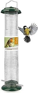 cœur d'animal Sauvage I Mangeoire Oiseaux Exterieur en métal Inoxydable I Distributeur Graines Oiseaux I Mangeoire à Oisea...