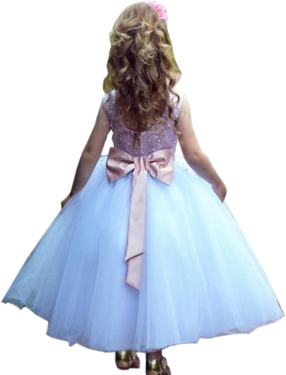 SHENLINQIJ Ranking TOP20 Round Neck Kids Prom Dresses Tull Girl Direct store Flower