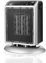 HBHHB Calefactor Pequeno 2 Temperatura 400 / 900W Estufa Electrica Protección De Seguridad Múltiple Poco Ruido para Cuarto/Baño/Oficina 19 * 17 * 8Cm,Plata