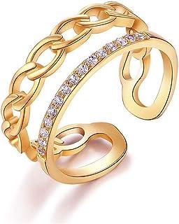 خواتم مفتوحة من الذهب المطلي عيار 18 قيراط للنساء عتيقة عتيقة بعقدة زهرة عقد زفاف حجم قابل للتعديل