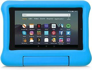 Custodia per bambini per tablet Fire 7 (compatibile con dispositivi di 9ª generazione, modello 2019), Blu