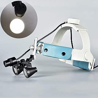 Songzi Optics 2.5X 3X 3.5X Optional Headband Binocular Medical Surgical Dental Loupes SZM06B Led Headlight with Light Spot (Working Distance :(360-460 mm) R, Magnification: 2.5X)