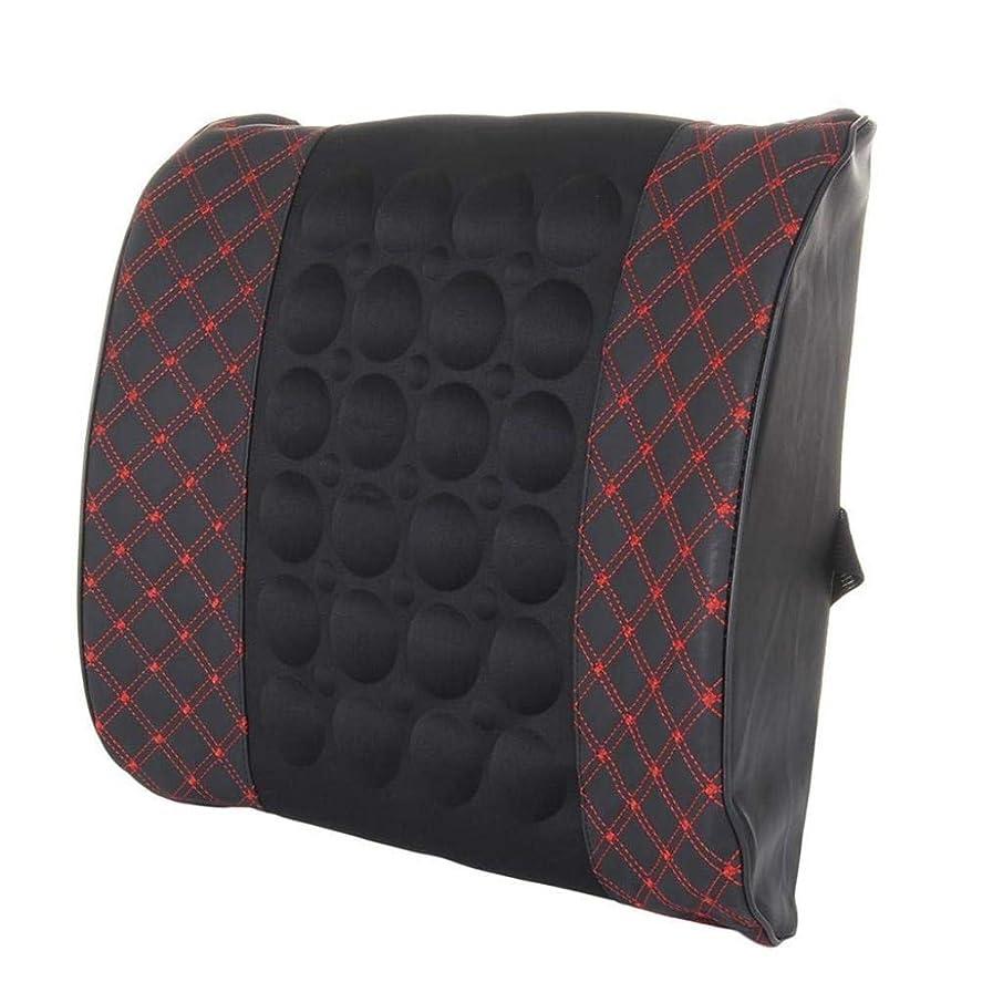 オーケストラドーム十一枕、腰部背部支持パッド、妊娠中の腰椎枕、腰用シートクッション、姿勢ブレース、腰痛を和らげる、低反発腰椎背もたれ枕、オフィスカーチェア、車の室内装飾 (Color : Blackred)