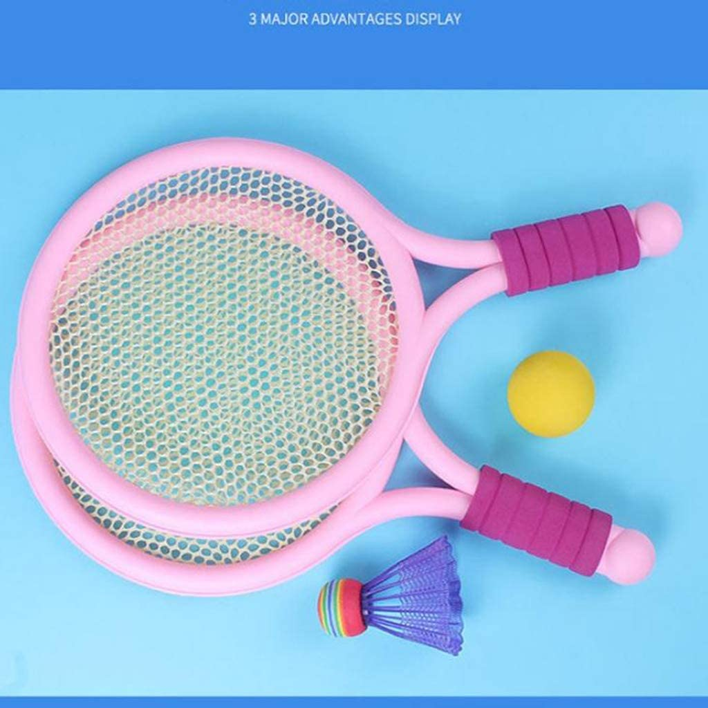 SM SunniMix Badminton Tennis Rackets and Ball Set Kids Play Game Toys for Toddlers Kids Children