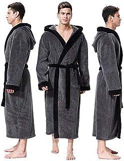 805c399ca4 HGWXX7 Bathrobe for Men Large Size Loose Comfort Spa Robes Sleepwear Hooded  Bathrobe