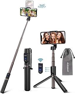ELEGIANT Palo Selfie Trípode 3 en 1 Bluetooth Stick Movil Deportivo Extensible de Control Remoto para Viaje Monopie con Obturador Rotación de 360 Grados Aleación de Aluminio Compatible Android iOS