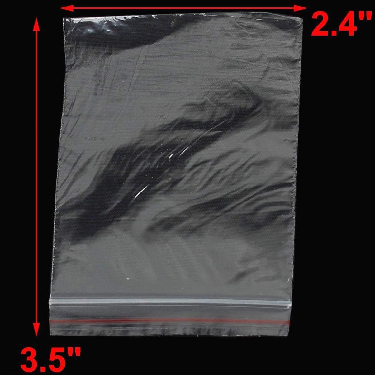 100 Pcs 9cm x 6cm en Plastique Transparent Baggy Grip Auto Joint Zip Lock Fermeture Sacs De Stockage Rescellable Autocollant Sac