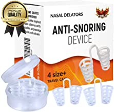 Anti Snoring Devices | Snore Solution - Nose Vents for a Restful Sleep and Instant Relief from Nasal Congestion - Natural, Effective, Reusable - Set of 4 with Travel Case