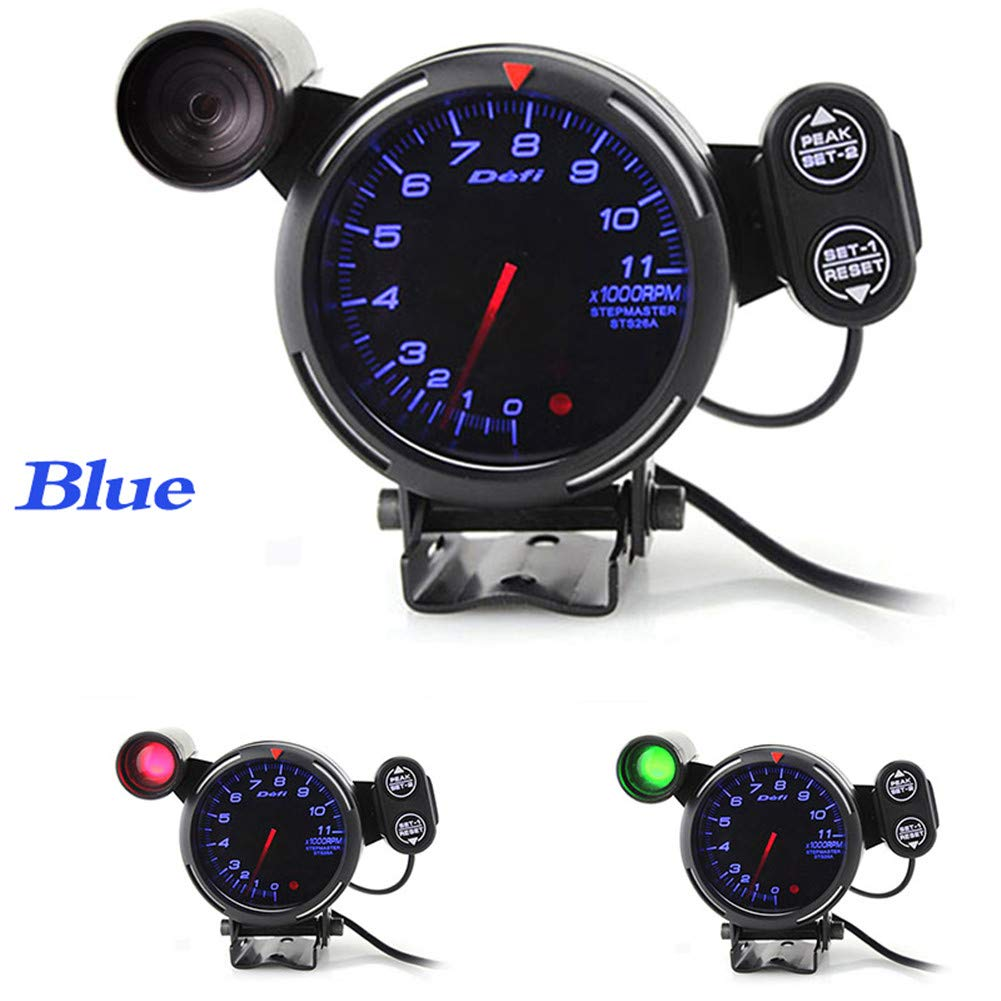 Ct Carid 80mm Car Digital Tachometer Defi Rpm Gauge Universal Car Stepper Motor Bf Tacometro Meter Blue White Led Shift Light Auto Gauge Amazon Co Uk Car Motorbike