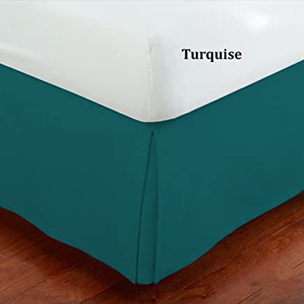 featured product Fancy Collection Full Size Easy Care Tailored Microfiber 14-inch Bed Skirt Solid Turquoise New