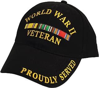 Black Military Veteran Proudly Served in World War II Baseball Style Hat Cap