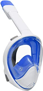 Ivation Snorkel Mask - Full-Face Snorkel Mask - 180° Visibility with Panoramic Viewing Area, Tubeless Design Prevents Wate...