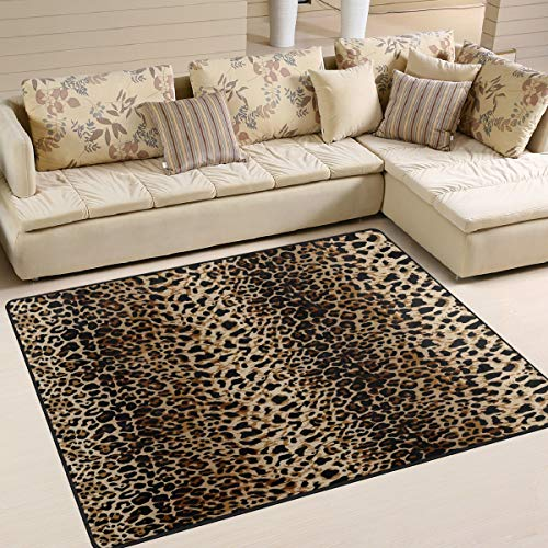 Use7 Teppich, Leopardenmuster, Vintage-Stil, für Wohnzimmer / Schlafzimmer, Textil, multi, 203cm x 147.3cm(7 x 5 feet)