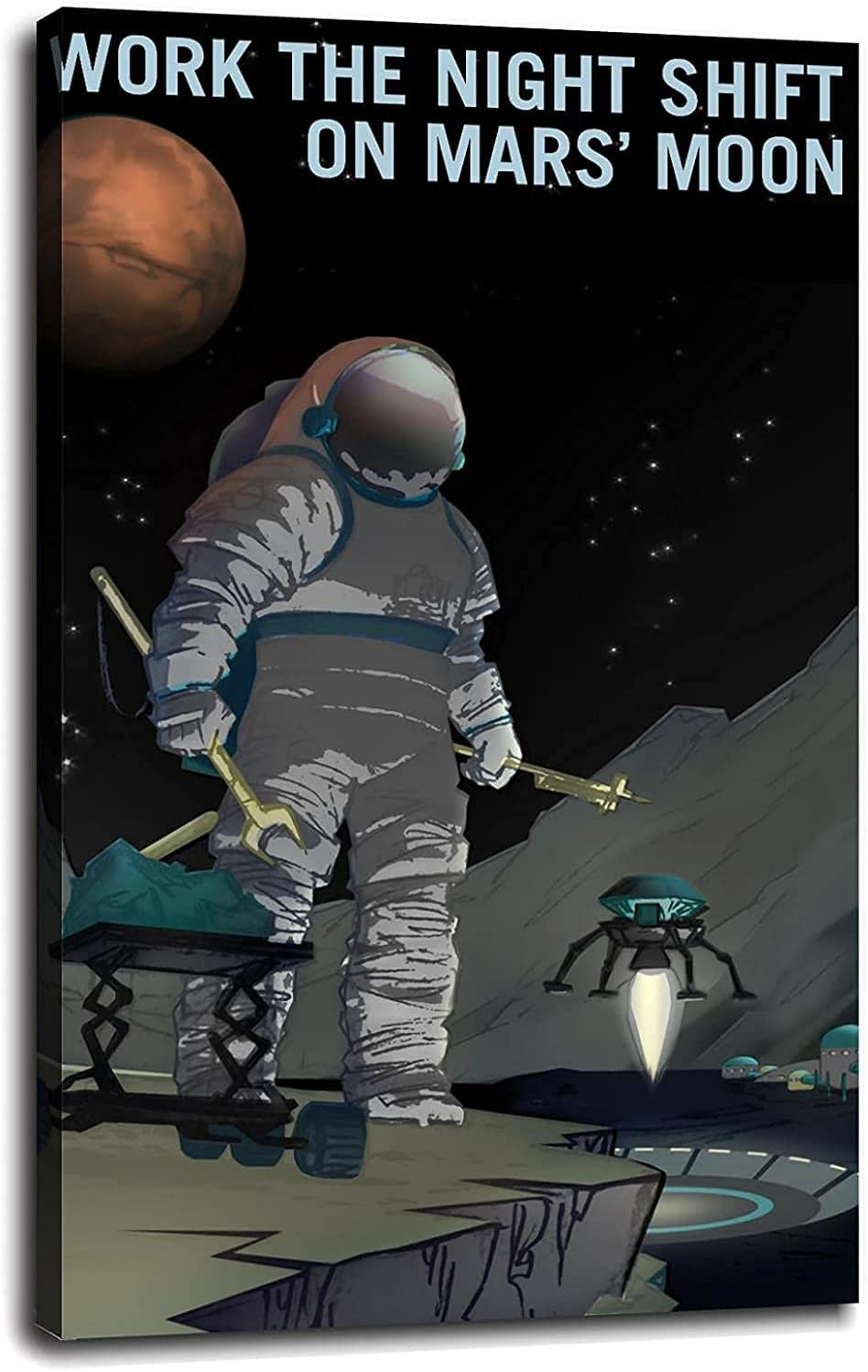 Space Sale price Exploration Poster Decorative OFFicial store Painting Canvas Wall Liv Art