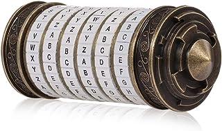Leonardo da Vinci Code Toy Metal Cryptex Locks Wedding Gifts Ring Valentine's Day Gift Letter Password Escape Chamber Props