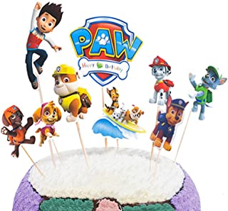 Party Hive 9pc Paw Dog Patrol Cake Toppers for Kids Birthday Party Event Decor
