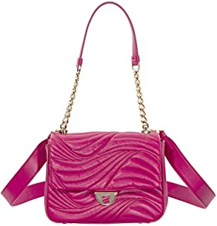 Salvatore Ferragamo Lexi Small Quilted Leather Shoulder Bag- Begonia