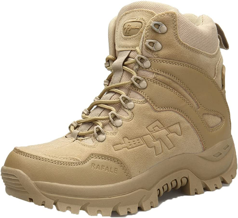 Danoensit Men Max 81% OFF Military Outdoor NEW Hiking Rubber Non-Slip Boots Tact